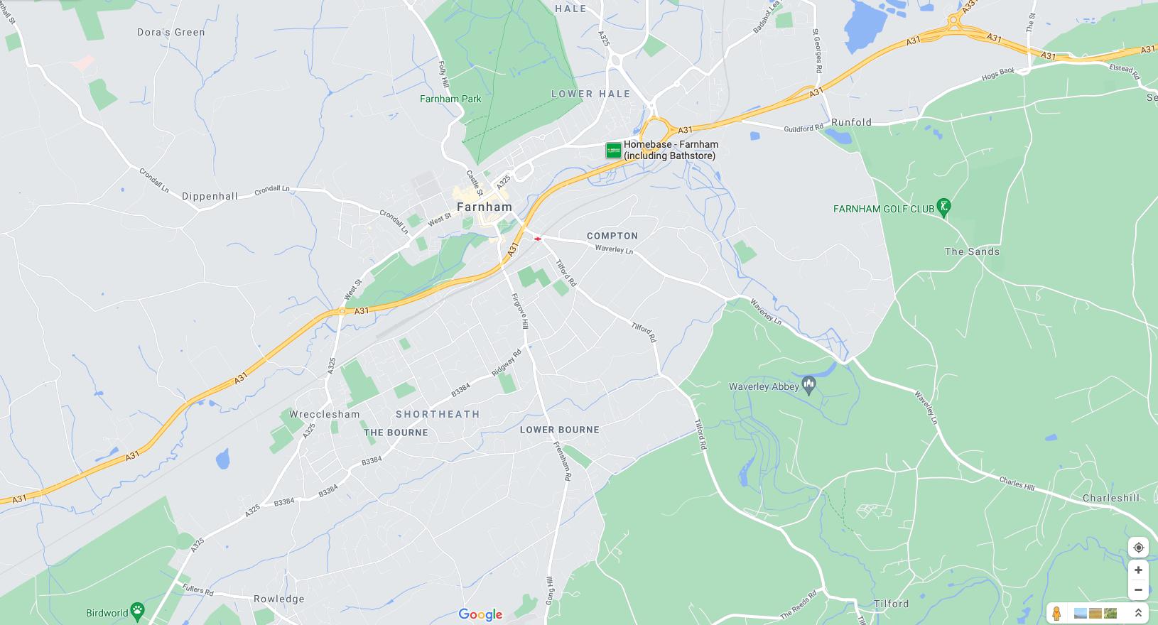 Map of Farnham